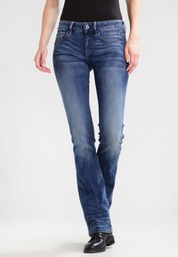 G-Star - 3301 MID BOOTLEG - Jeansy Bootcut - elto superstretch - 0