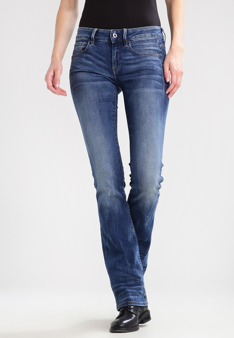 G-Star - 3301 MID BOOTLEG - Jeansy Bootcut - elto superstretch