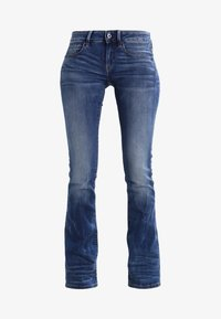 G-Star - 3301 MID BOOTLEG - Jeansy Bootcut - elto superstretch - 6