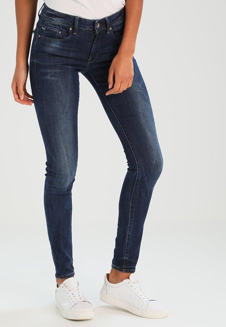 G-Star - MIDGE ZIP MID SKINNY  - Jeans Skinny Fit - neutro stretch denim