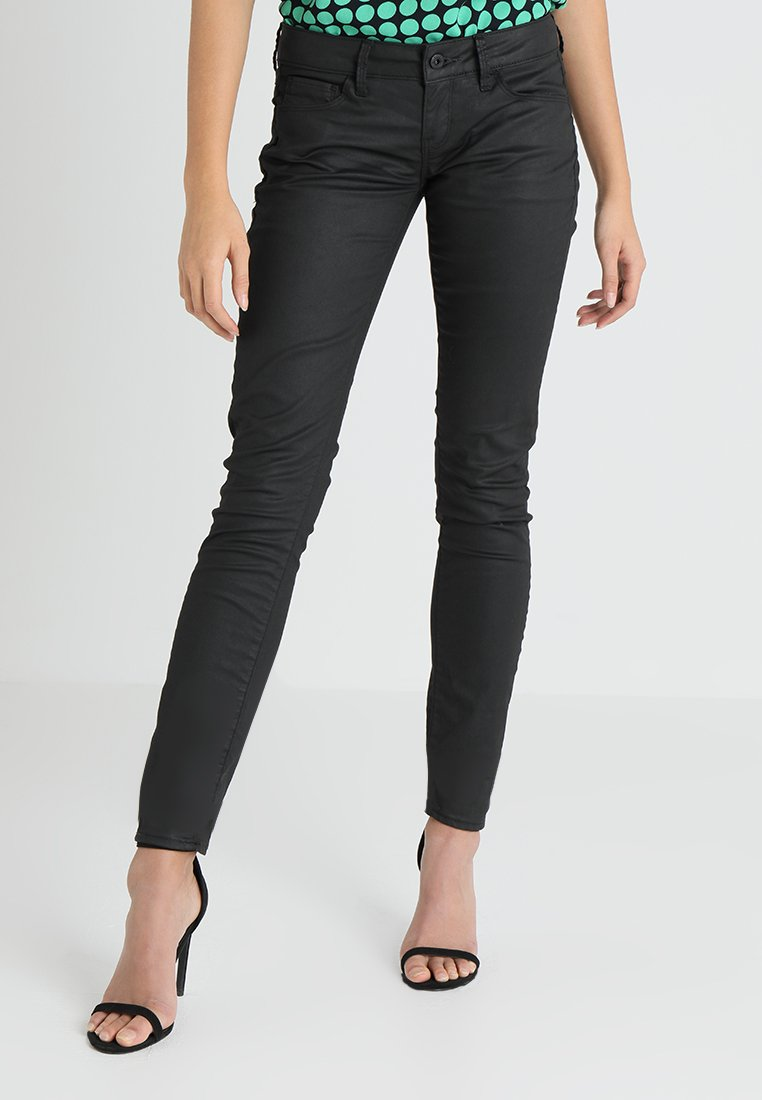 G-Star - 3301 LOW SKINNY  - Jeans Skinny Fit - distro black superstretch rinsed