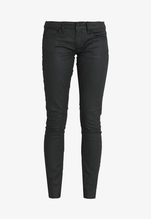 3301 LOW SKINNY  - Jeans Skinny Fit - distro black superstretch rinsed