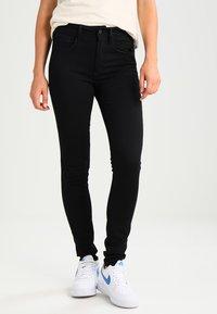 G-Star - 3301 HIGH SKINNY - Jeans Skinny - ita black superstretch - 0