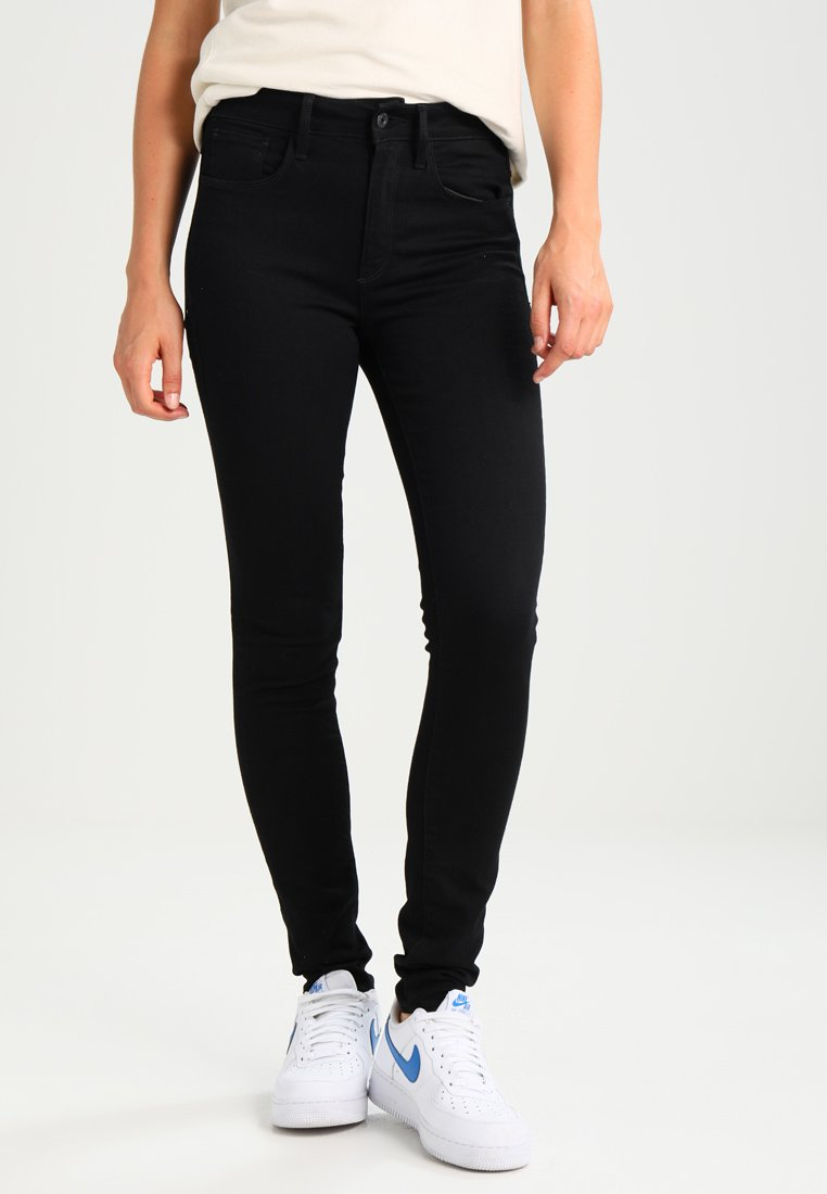 G-Star - 3301 HIGH SKINNY - Jeans Skinny Fit - ita black superstretch