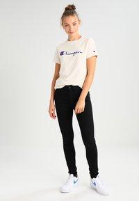 G-Star - 3301 HIGH SKINNY - Jeans Skinny - ita black superstretch - 1