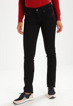 MIDGE SADDLE MID STRAIGHT - Jeans straight leg - ita black superstretch