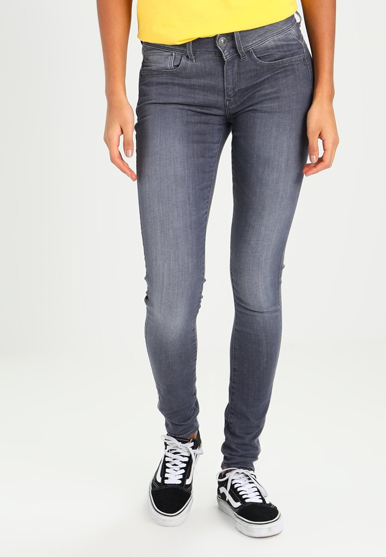 G-Star - LYNN MID SUPER SKINNY - Jeans Skinny Fit - grey denim