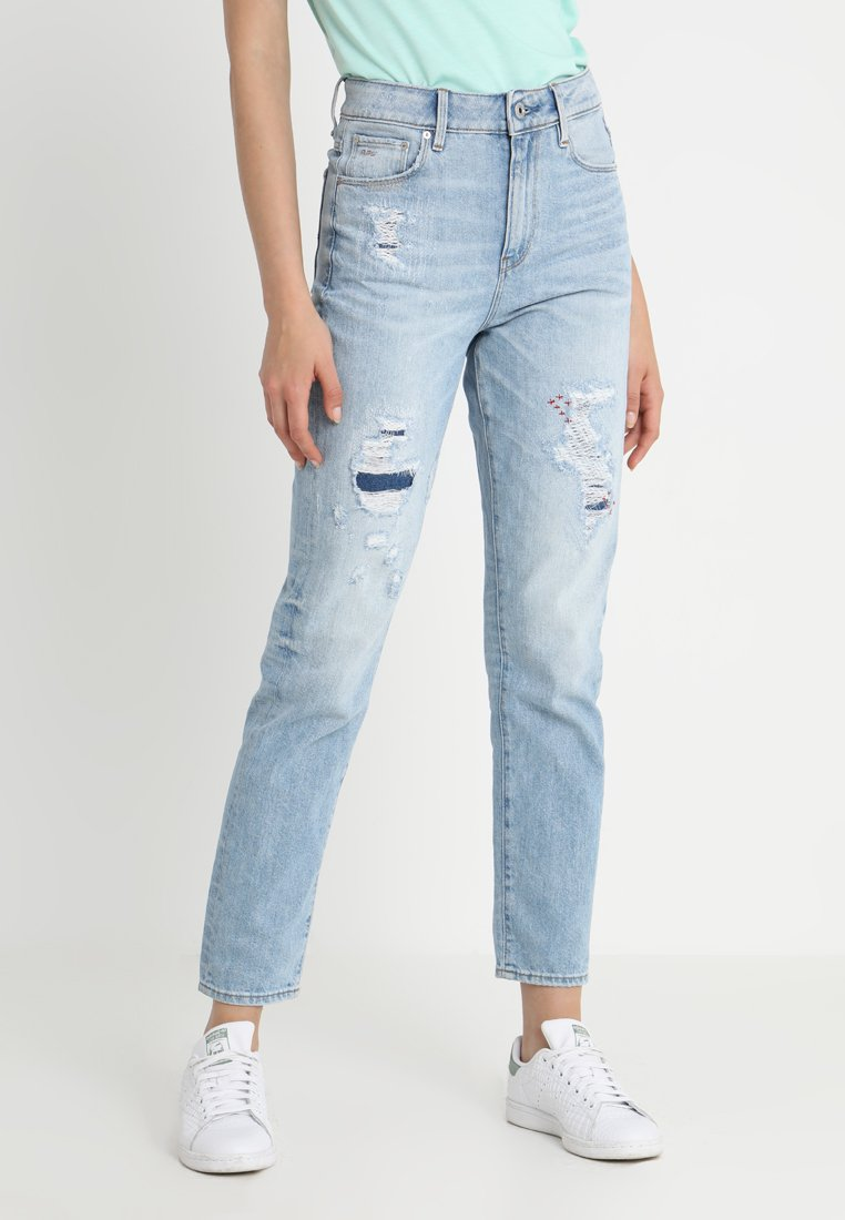 G-Star - 3301 HIGH STRAIGHT 90S - Straight leg jeans - lt aged restored 212