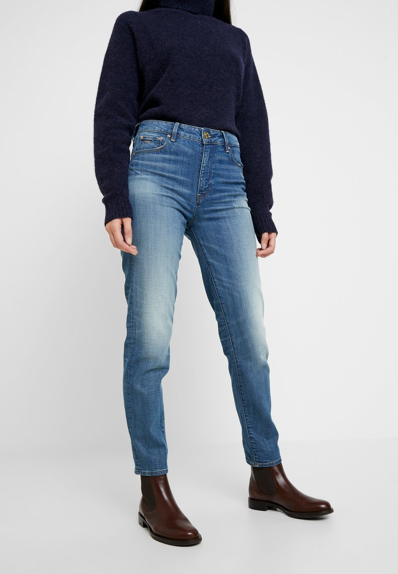 G-Star - 3301 HIGH STRAIGHT 90S - Jeans straight leg - antic indigo