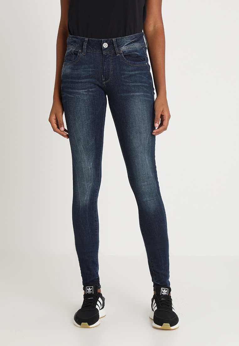 G-Star - LYNN MID SKINNY NEW - Jeans Skinny Fit - neutro stretch denim