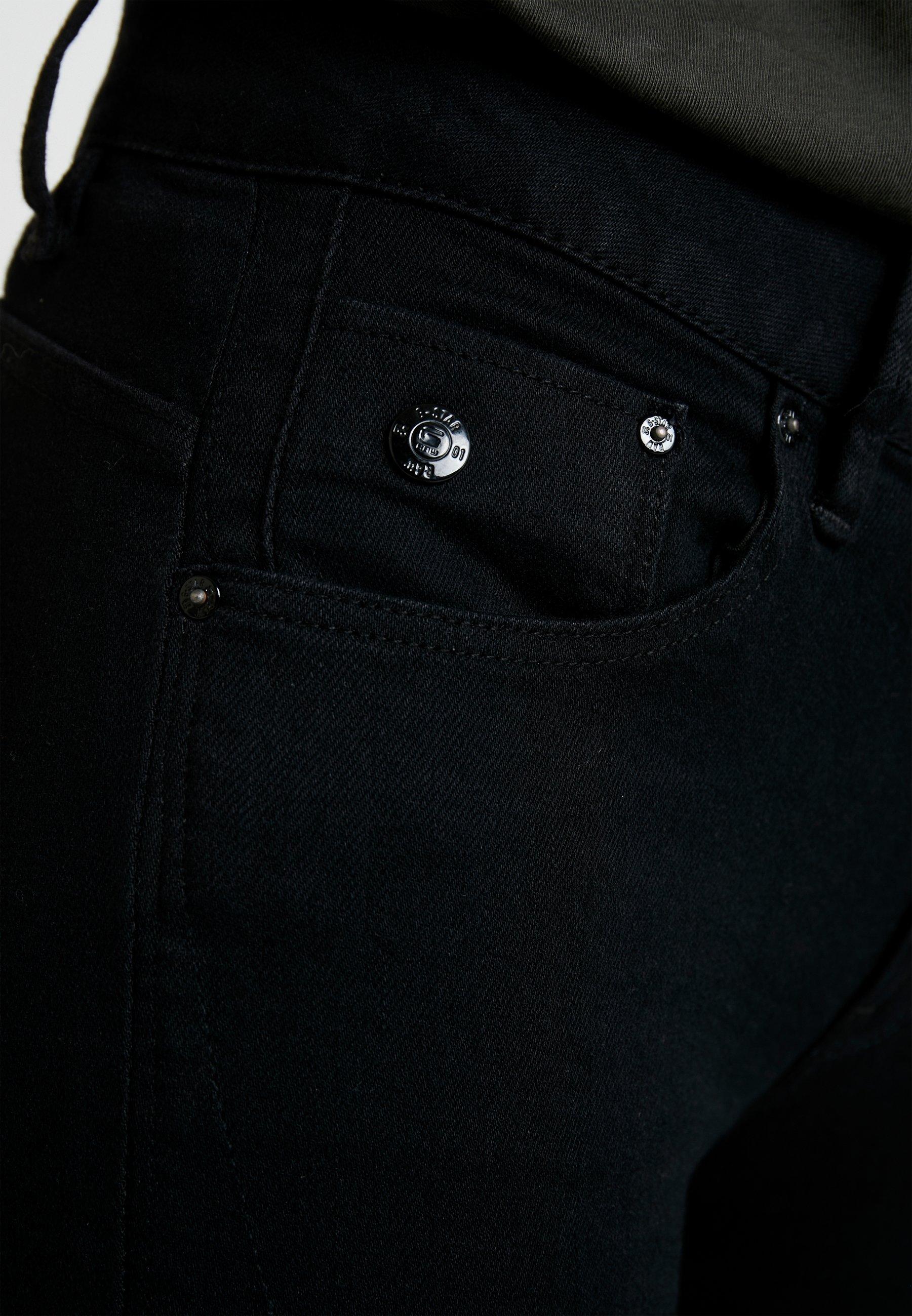 G-Star ARC 3D MID SKINNY WMN - Jeansy Skinny Fit - pitch black