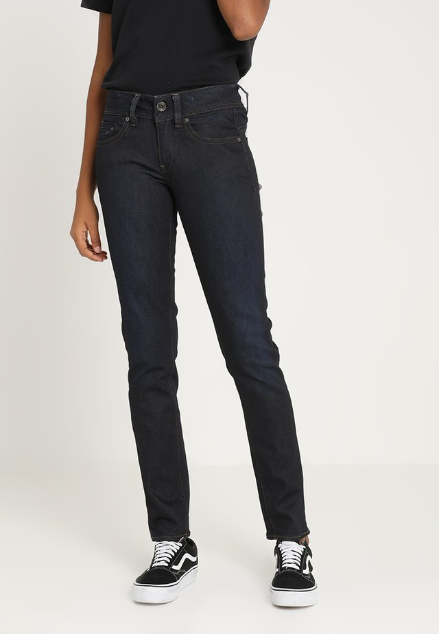 MIDGE SADDLE STRAIGHT - Straight leg jeans - visor stretch denim