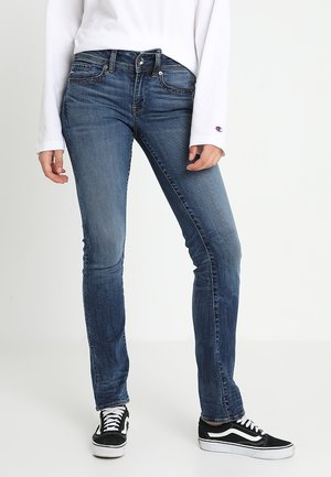 MIDGE SADDLE MID STRAIGHT WMN NEW - Jeans straight leg - elto superstretch