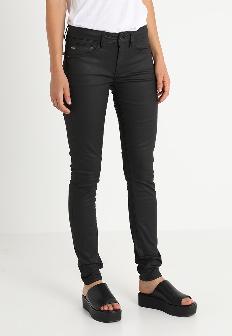 G-Star - MIDGE ZIP MID SKINNY - Jeans Skinny Fit - distro black superstretch