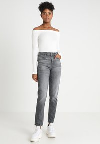 G-Star - 3301 HIGH STRAIGHT 90'S WMN - Jeans straight leg - dark aged - 1