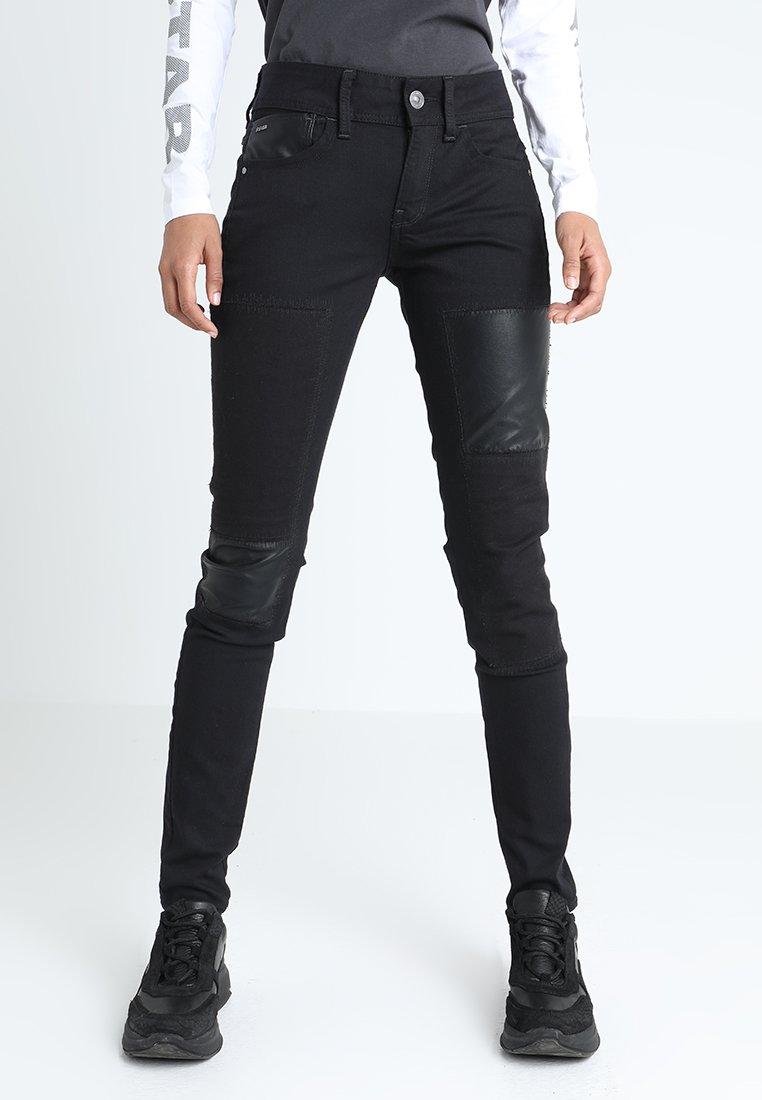 G-Star - LYNN MID SKINNY RESTORED WMN - Jeans Skinny Fit - ita black superstretch
