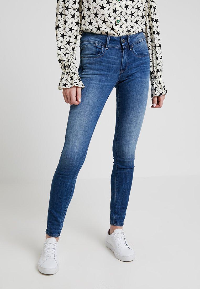 G-Star - LYNN MID SKINNY WMN NEW - Jeans Skinny Fit - dark-blue denim