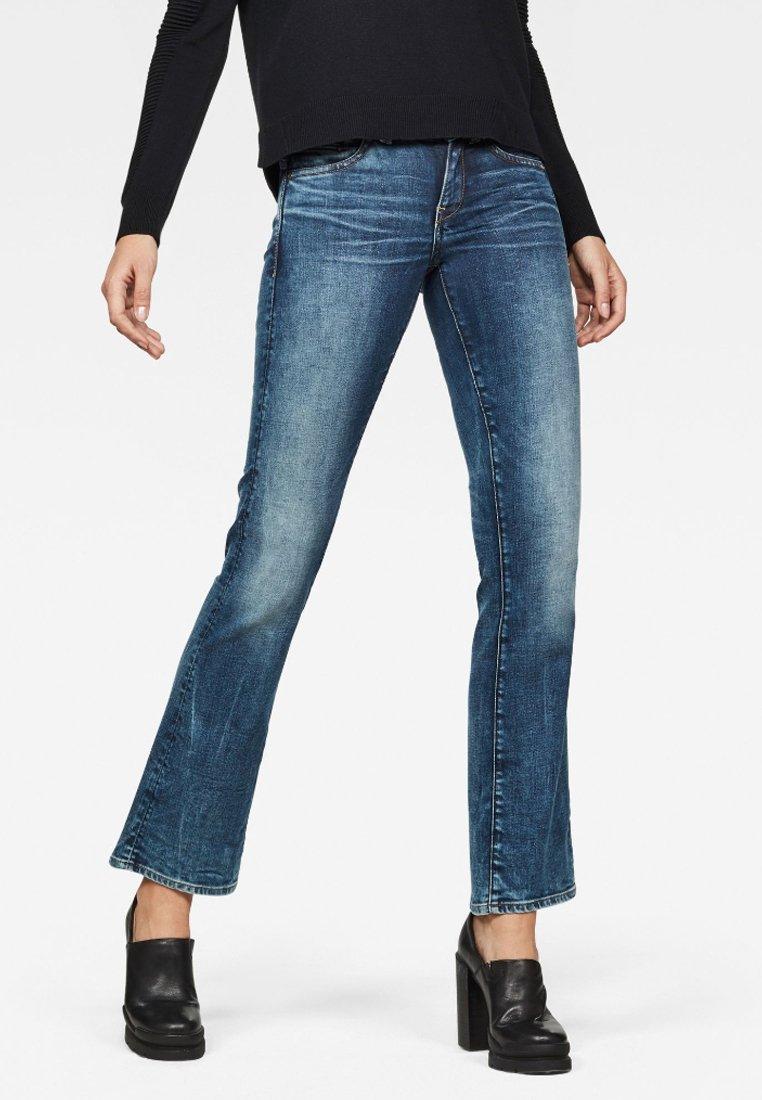 G-Star - MIDGE SADDLE MID BOOTCUT - Bootcut jeans - blue denim