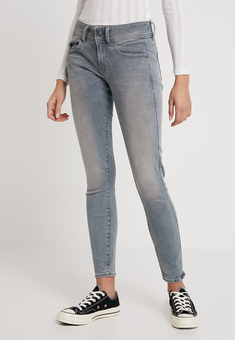 G-Star - LYNN MID SKINNY RP ANKLE WMN - Jeans Skinny Fit - wess grey superstretch
