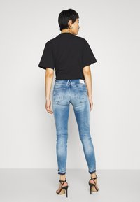 G-Star - LYNN MID SKINNY RP ANKLE WMN - Jeansy Skinny Fit - sun faded azurite - 2