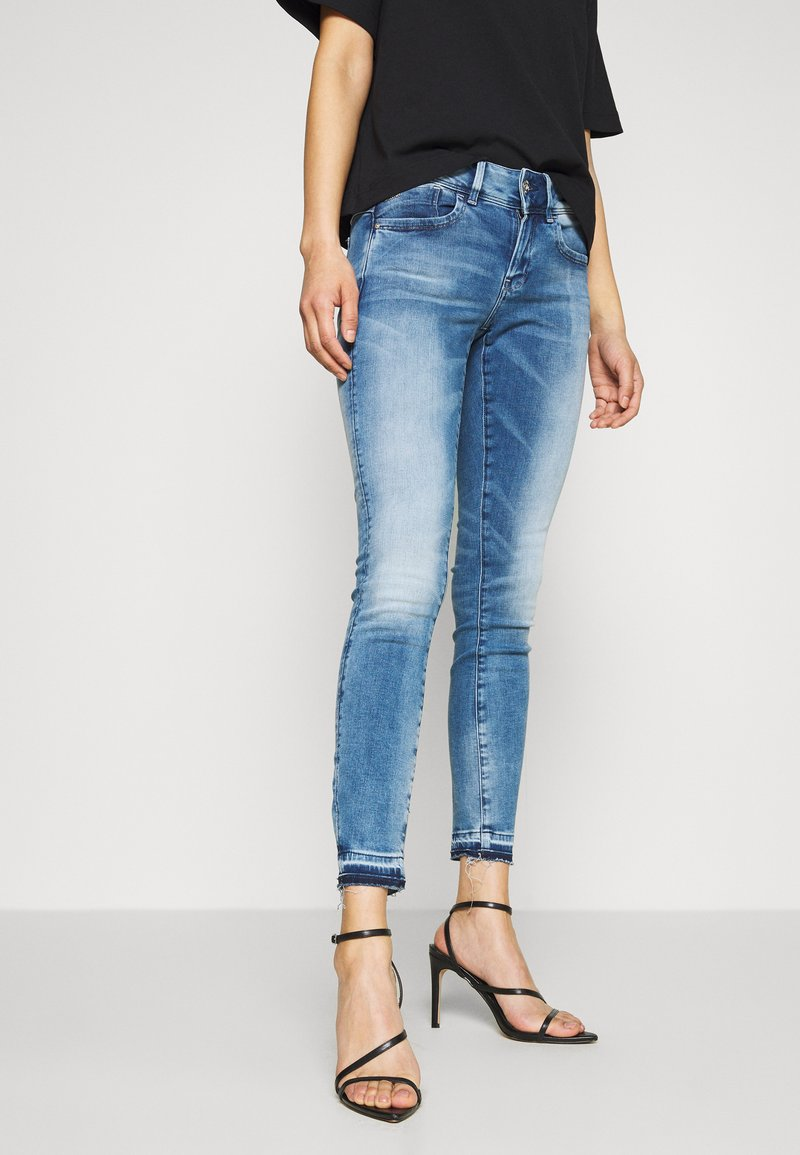 G-Star - LYNN MID SKINNY RP ANKLE WMN - Jeansy Skinny Fit - sun faded azurite