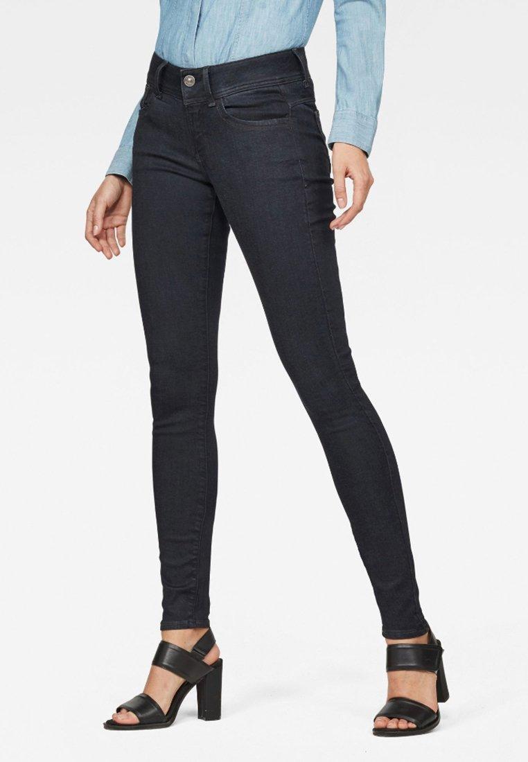 G-Star - LYNN D-MID SUPER SKINNY - Jeans Skinny Fit - blue denim