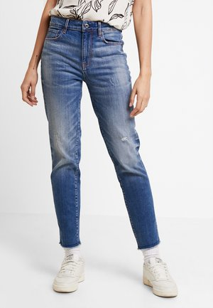 HIGH STRAIGHT ANKLE - Jeans straight leg - authentic lt aged destroy