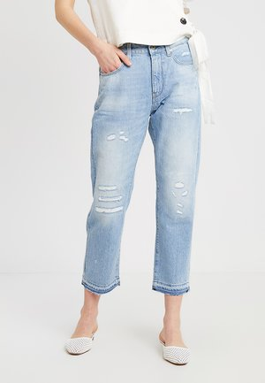 3301 RIPPED MID BOYFRIEND 7\8 - Relaxed fit jeans - vintage aged destroy