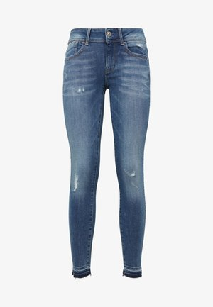 Lynn Mid Skinny Ripped Ankle - Skinny-Farkut - blue denim
