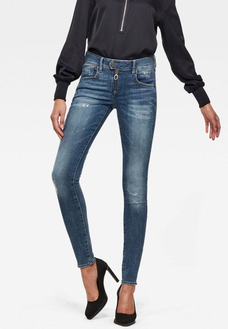 G-Star - LYNN ZIPPER MID SKINNY - Jeans Skinny Fit - blue denim
