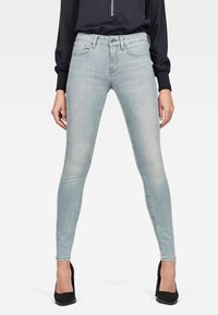 G-Star - 3301 DECONSTRUCTED MID WAIST SKINNY - Jeans Skinny Fit - blue - 0