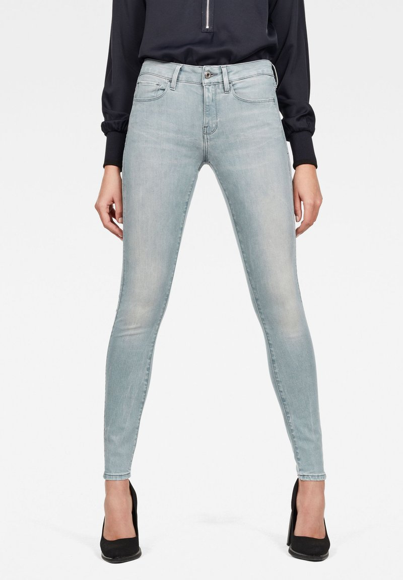 G-Star - 3301 DECONSTRUCTED MID WAIST SKINNY - Jeans Skinny Fit - blue