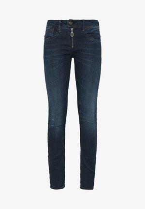 LYNN ZIPPER MID SKINNY  - Jeans Skinny - dark blue