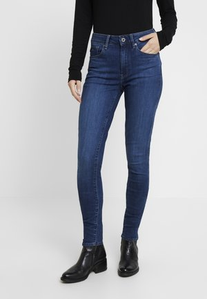3301 HIGH SKINNY - Skinny džíny - medium blue aged
