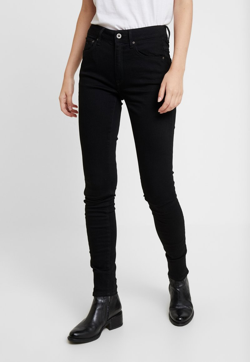 G-Star - 3301 HIGH SKINNY - Jeans Skinny - pitch black