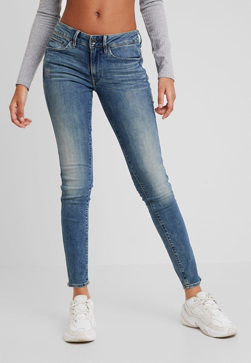 G-Star - MIDGE ZIP MID SKINNY WMN - Jeans Skinny Fit - lt vintage aged destroy