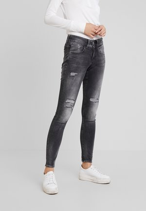 LYNN MID - Jeans Skinny Fit - antic charcoal destroy