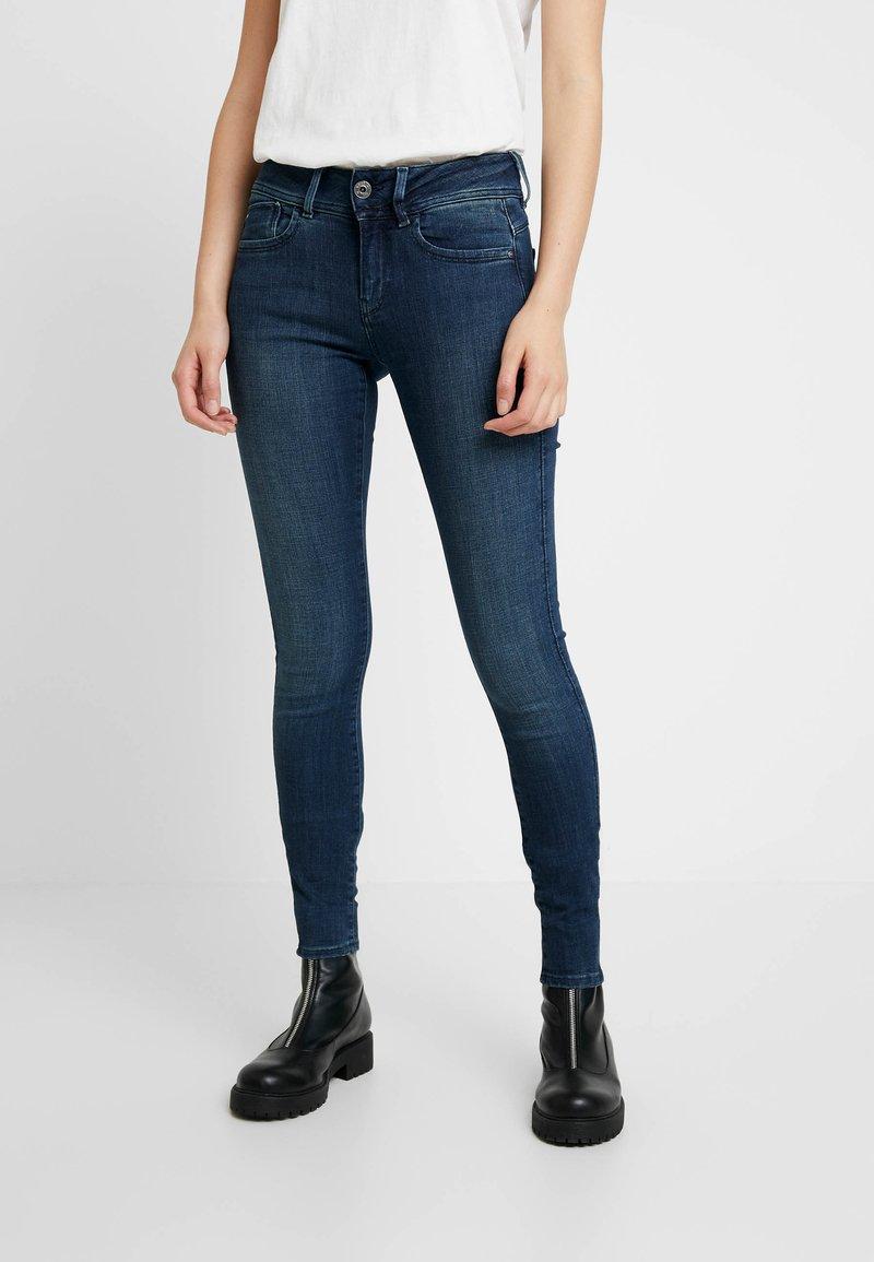 G-Star - LYNN MID SUPER SKINNY  - Jeans Skinny Fit - worn in naval