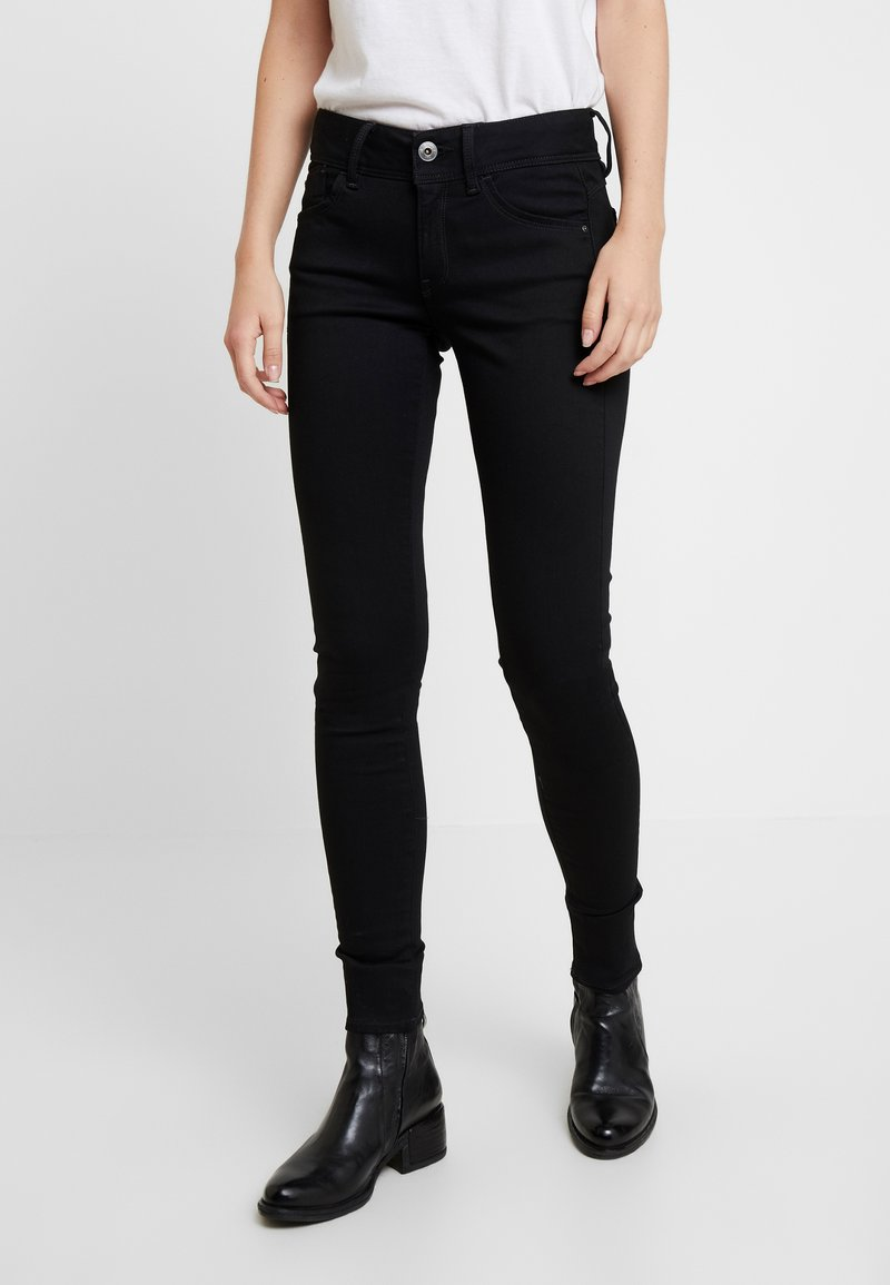 G-Star - LYNN MID SUPER SKINNY  - Jeans Skinny - pitch black
