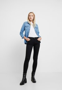 G-Star - LYNN MID SUPER SKINNY  - Jeans Skinny - pitch black - 1