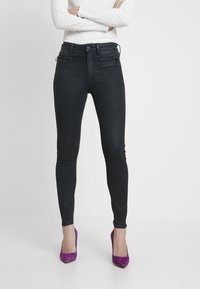 G-Star - ASHTIX ZIP HIGH SUPER SKINNY ANKLE WMN - Jeans Skinny Fit - premium cobler charcoal - 0