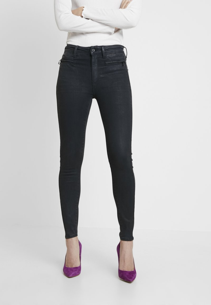 G-Star - ASHTIX ZIP HIGH SUPER SKINNY ANKLE WMN - Jeans Skinny Fit - premium cobler charcoal