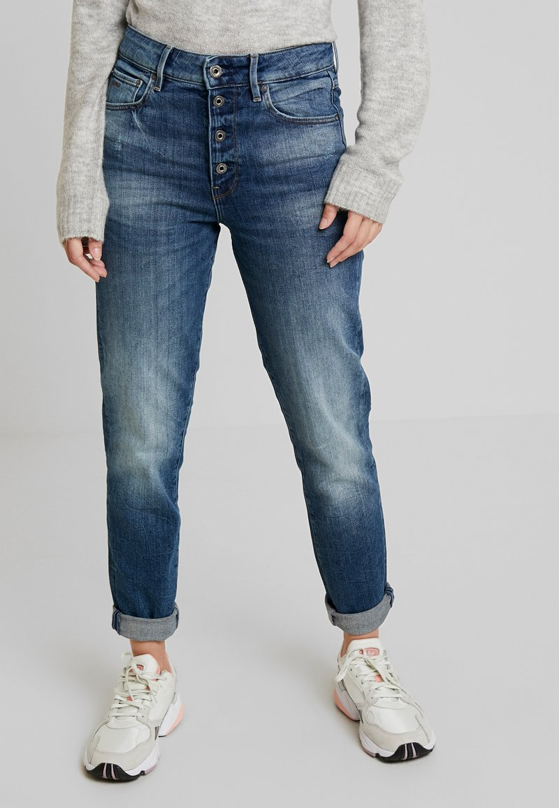 G-Star - NAVIK HIGH SLIM ANKLE WMN - Vaqueros slim fit - authentic blue