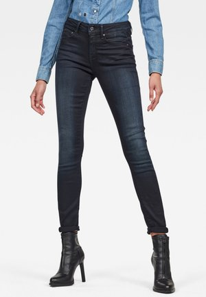 HIGH SKINNY - Skinny džíny - dark-blue denim