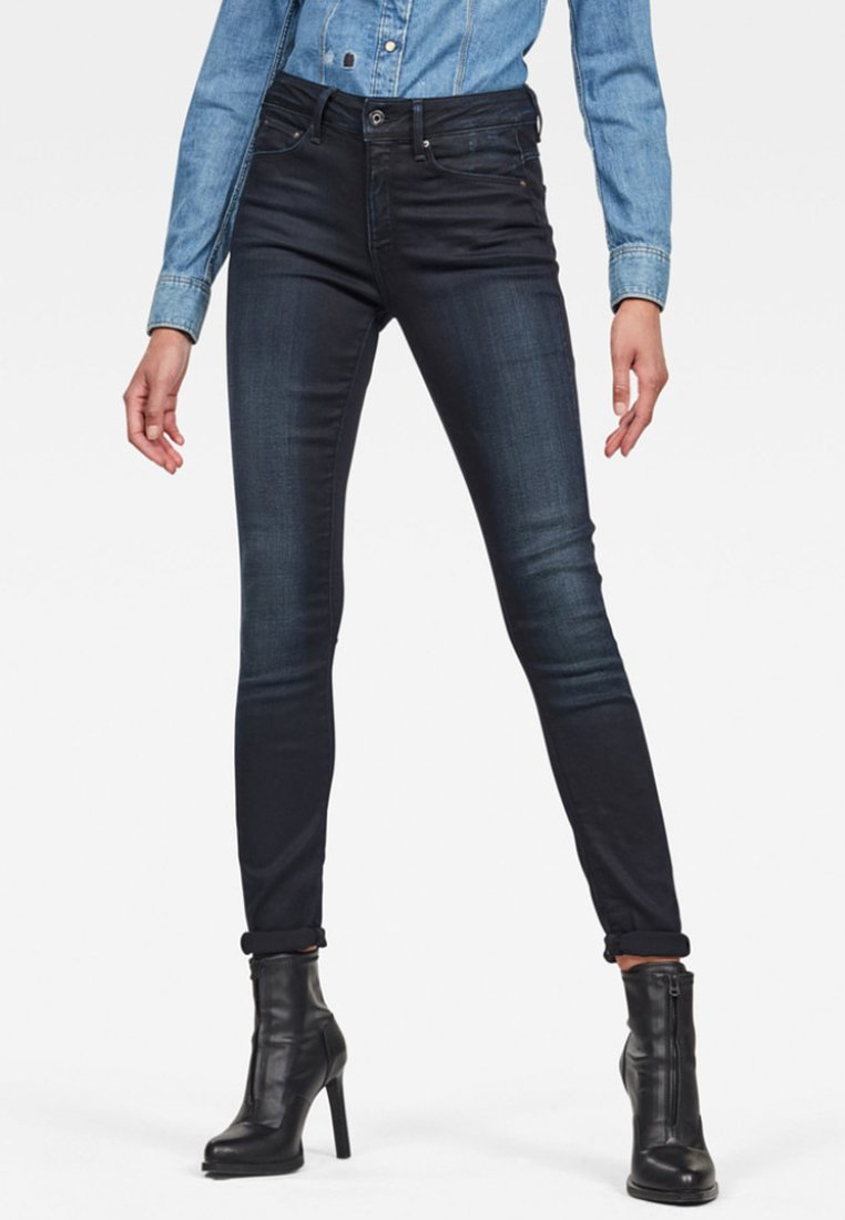 G-Star - HIGH SKINNY - Jeans Skinny Fit - dark-blue denim