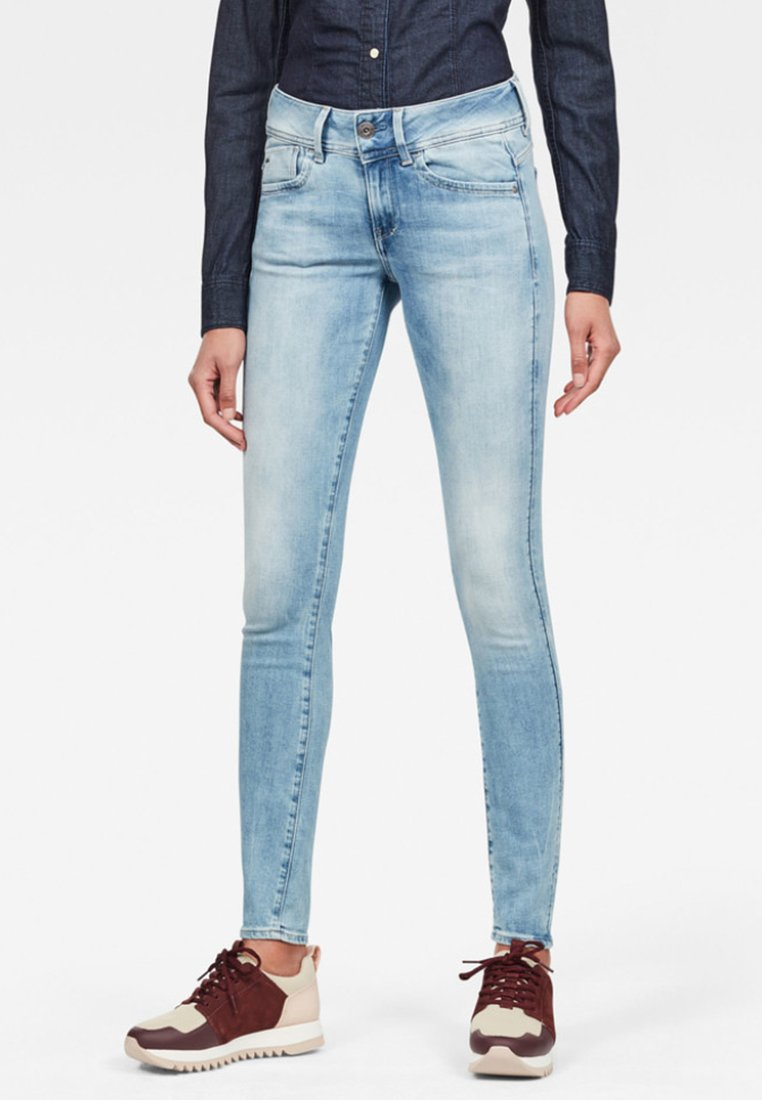 G-Star - LYNN MID SKINNY  - Jeans Skinny Fit - sun faded blue