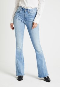 G-Star - 3301 HIGH FLARE WMN - Flared jeans - lt aged - 0