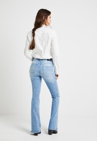 G-Star - 3301 HIGH FLARE WMN - Flared jeans - lt aged - 2