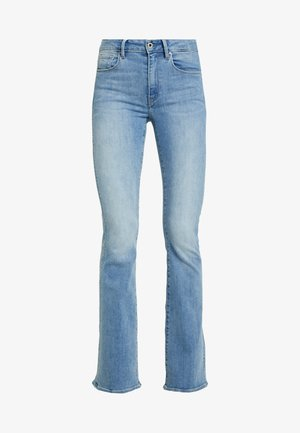 3301 HIGH FLARE WMN - Flared jeans - lt aged