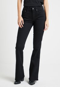 G-Star - 3301 HIGH FLARE WMN - Flared Jeans - black - 0